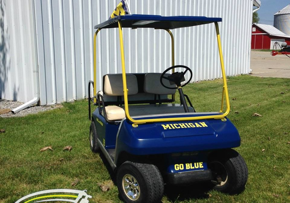 University Themed Golf Cart