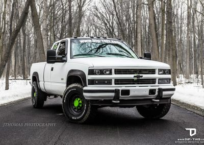 1997 Chevy k2500 Satin White Halo EFX