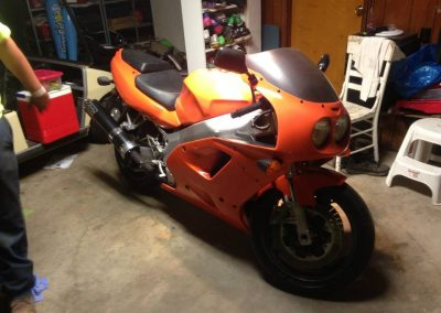 1996 Kawasaki Ninja Gloss Orange with Smoked accents